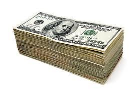 $100 bill stack
