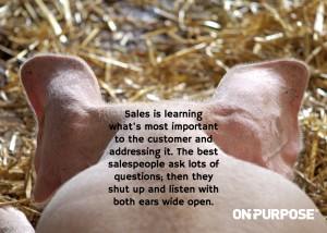 Sales is listening