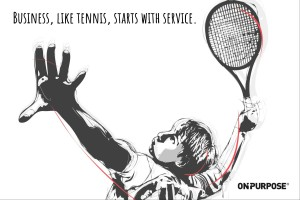 Business like tennis