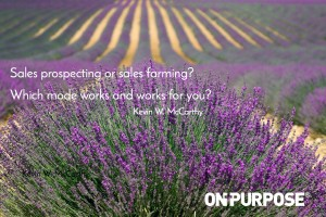 sales prospecting or farming