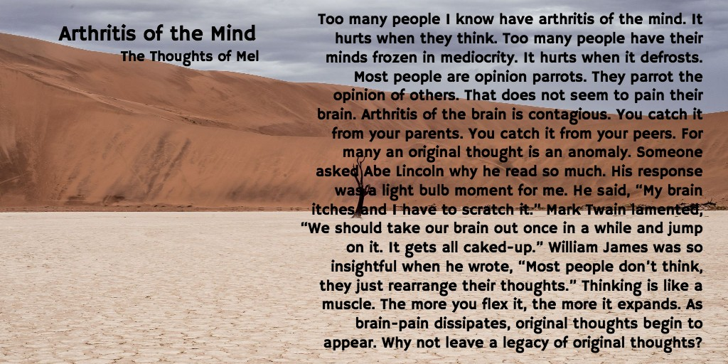 Arthritis of the Mind